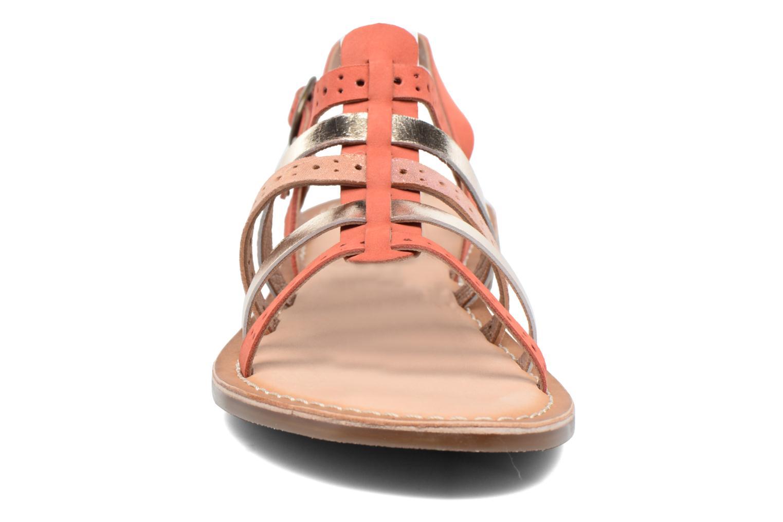 Sandalen Kickers Dixmillion Perf rosa schuhe getragen