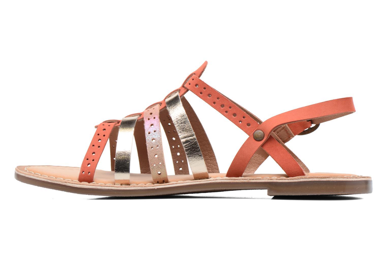 Sandalen Kickers Dixmillion Perf rosa ansicht von vorne