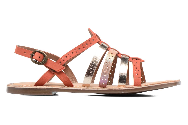 Sandalen Kickers Dixmillion Perf rosa ansicht von hinten