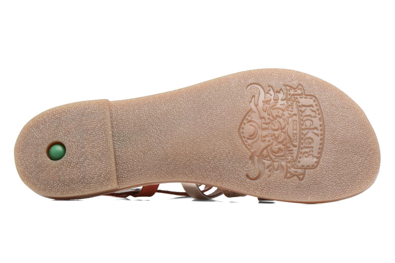 Sandales et nu-pieds Kickers Dixmillion Perf Rose vue haut