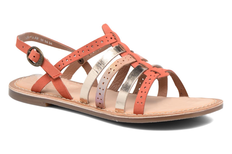 Sandales et nu-pieds Kickers Dixmillion Perf Rose vue détail/paire