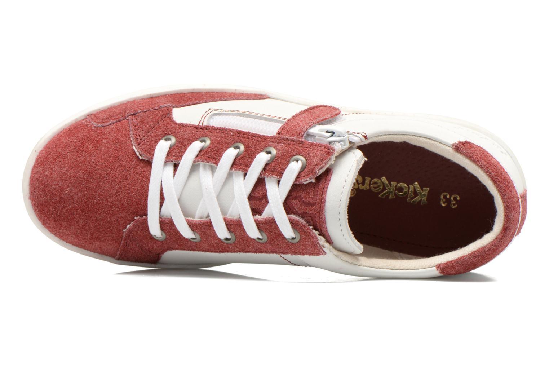 Sneaker Kickers Hameri weiß ansicht von links
