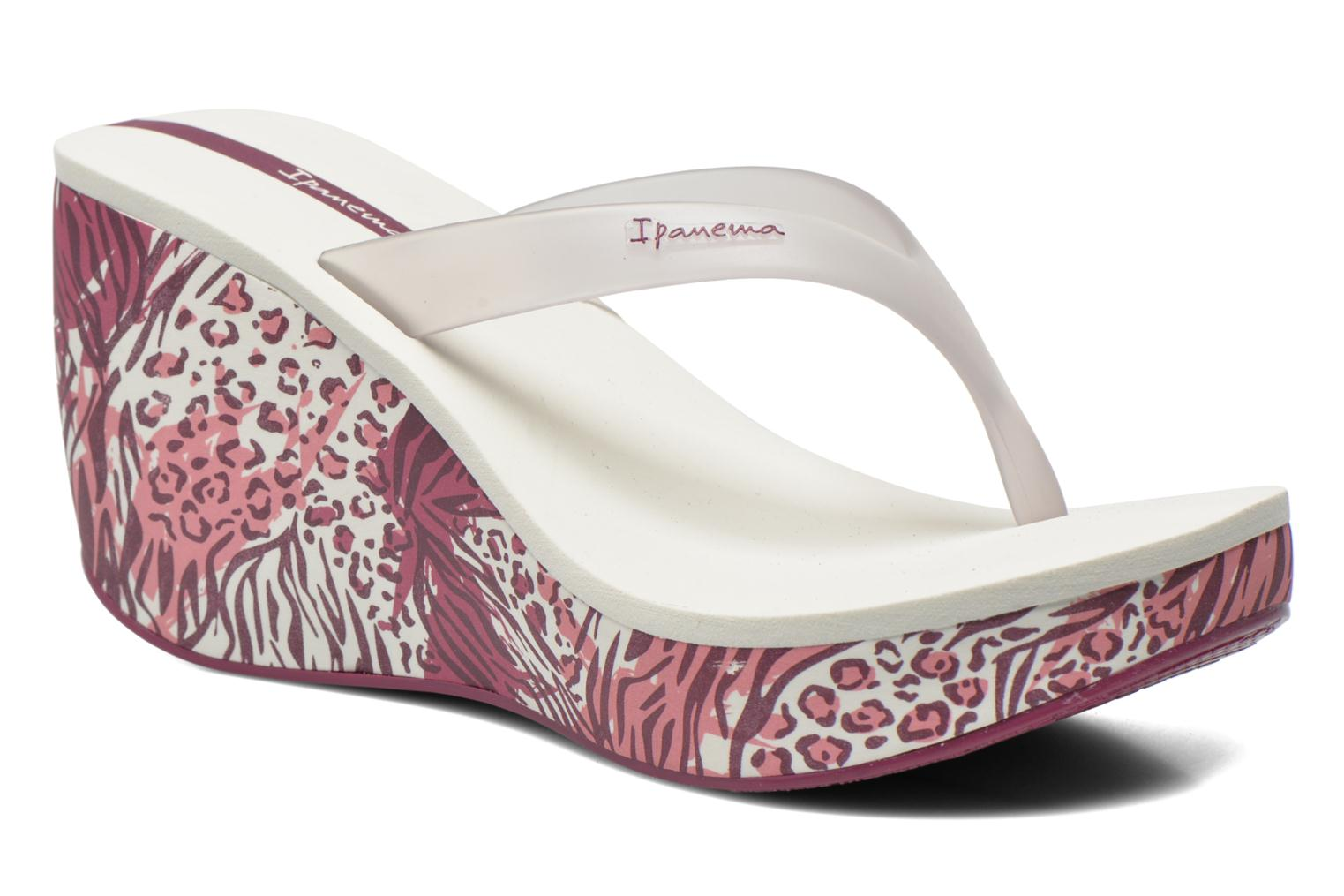 Marques Chaussure femme Ipanema femme Lipstick Thong White/Purple/White