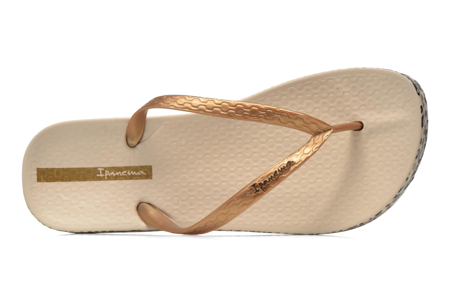 Flip flops Ipanema Anatomica Soft Bronze and Gold view from the left