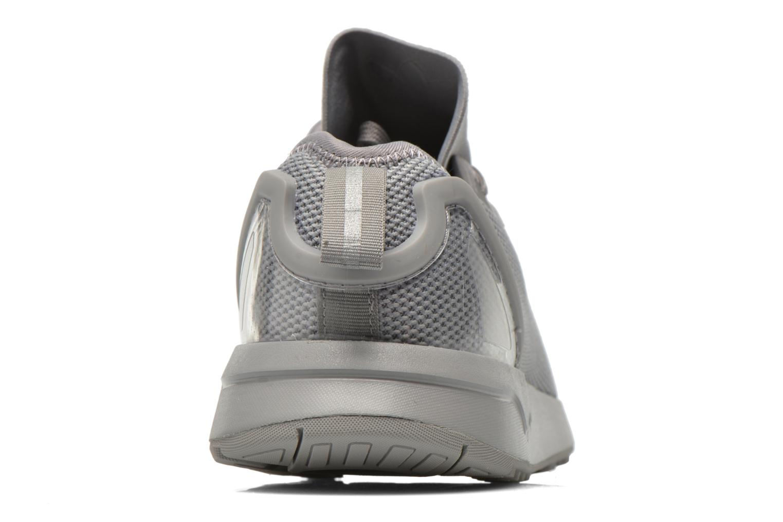 Baskets Adidas Originals Zx Flux Adv Asym Gris vue droite