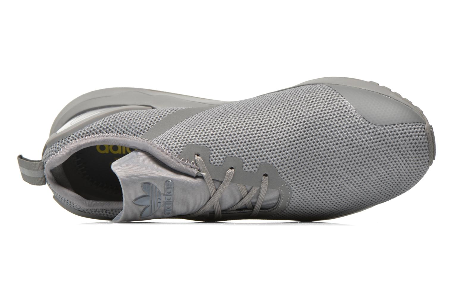 Trainers Adidas Originals Zx Flux Adv Asym Grey view from the left