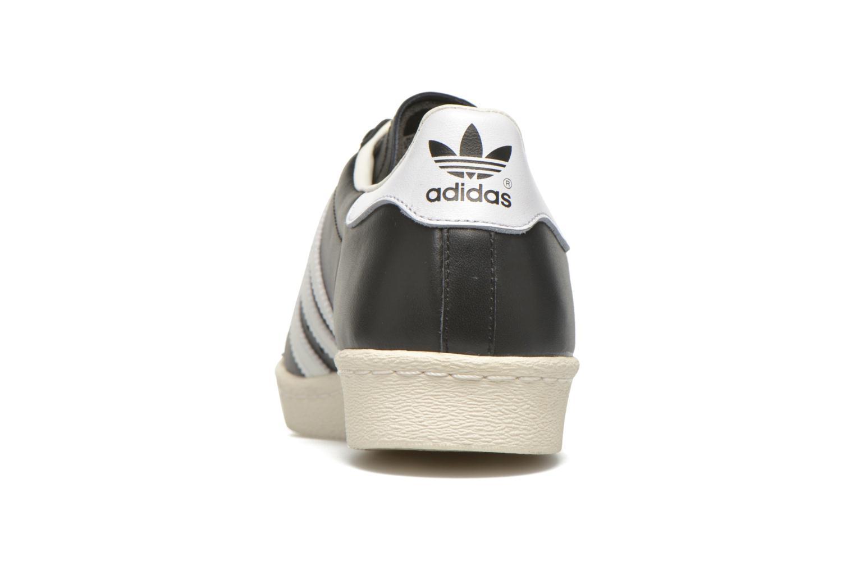 Baskets Adidas Originals Superstar 80S Noir vue droite