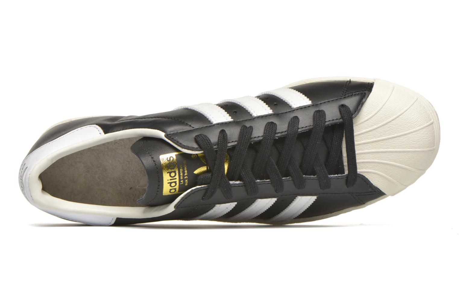Trainers Adidas Originals Superstar 80S Black view from the left