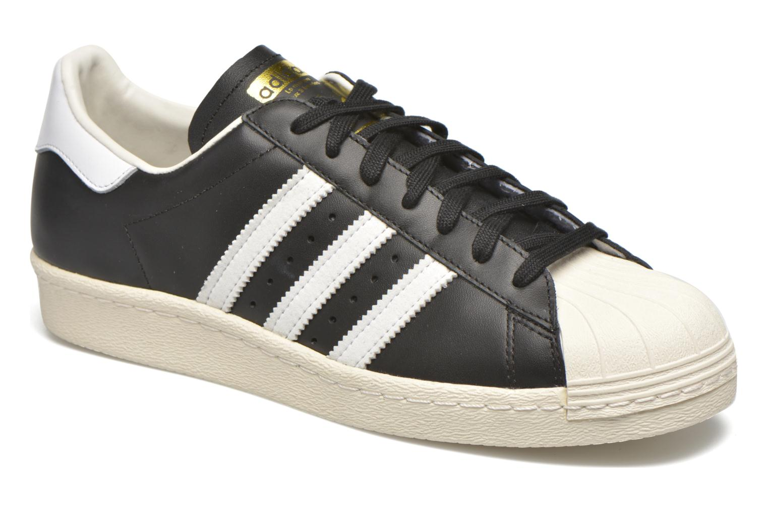 Trainers Adidas Originals Superstar 80S Black detailed view/ Pair view