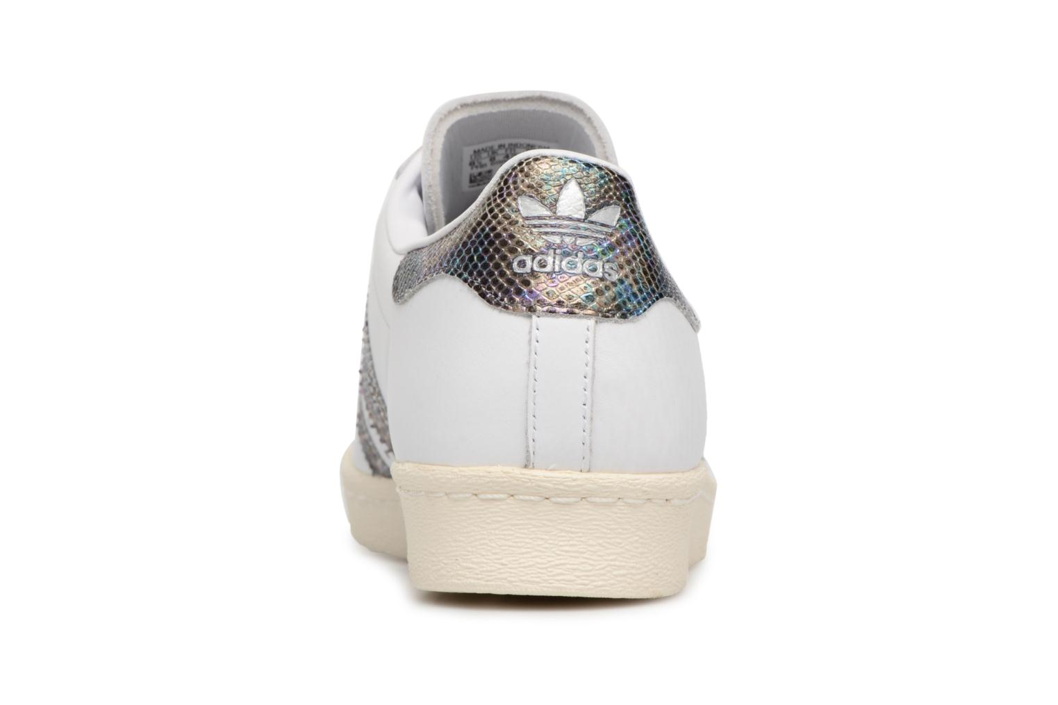 Trainers Adidas Originals Superstar 80S White view from the right