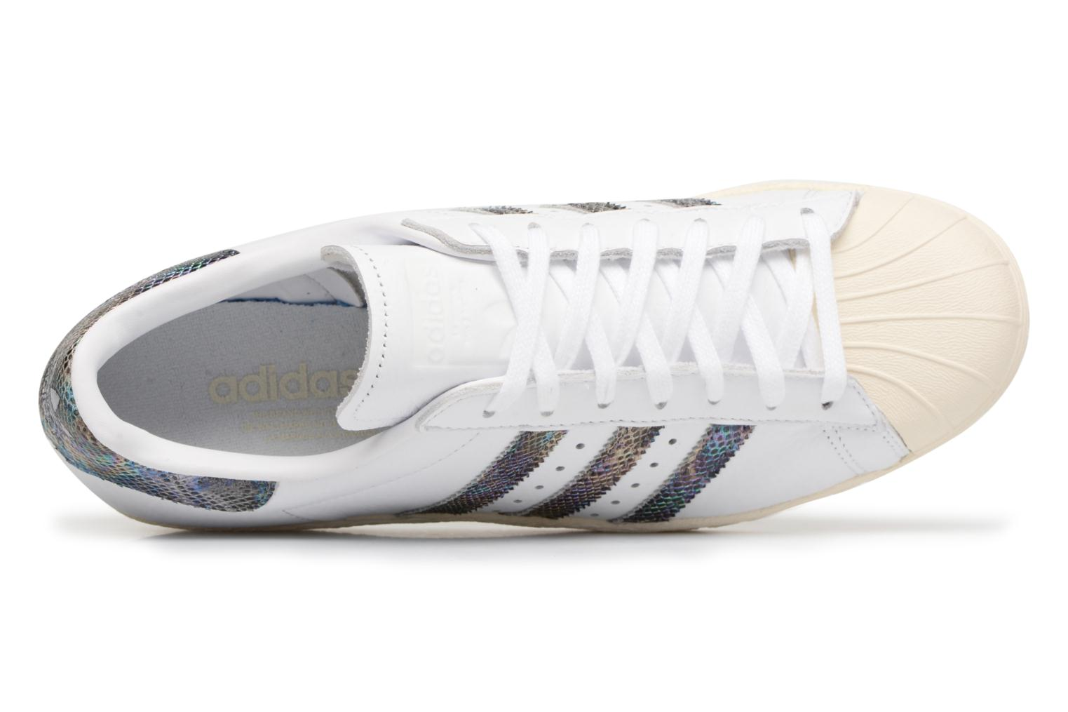 Trainers Adidas Originals Superstar 80S White view from the left