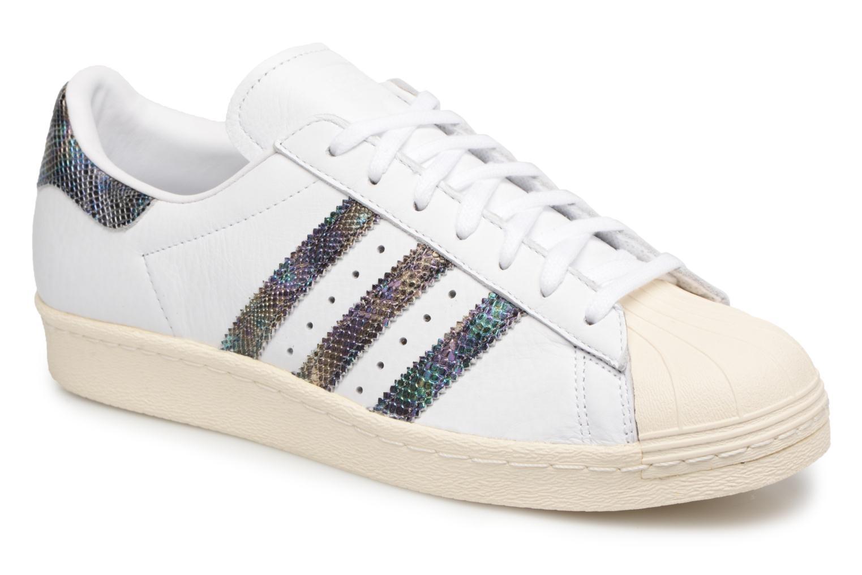Trainers Adidas Originals Superstar 80S White detailed view/ Pair view