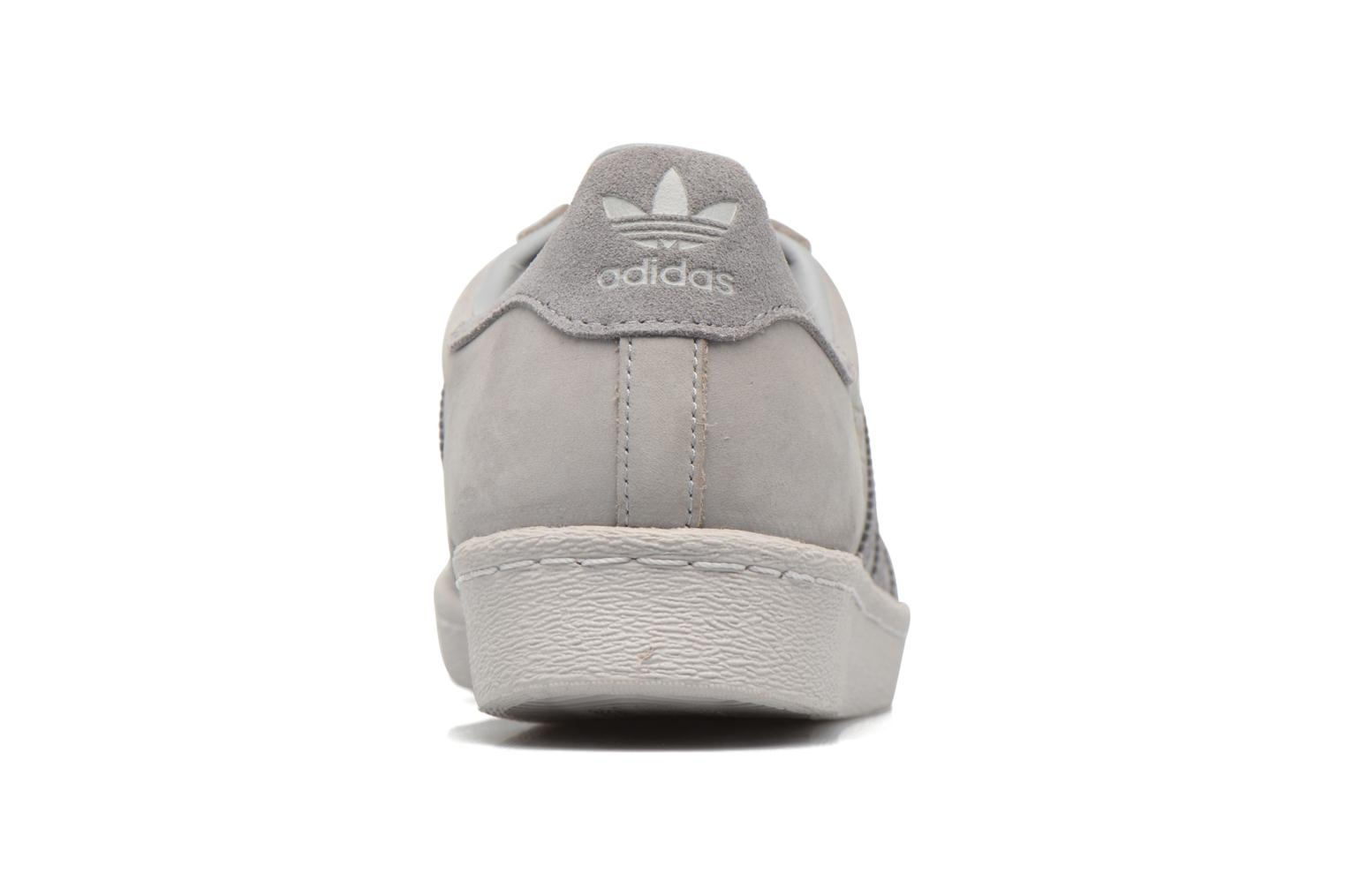 Baskets Adidas Originals Superstar 80S Gris vue droite