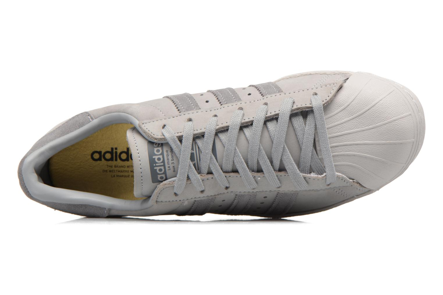 Baskets Adidas Originals Superstar 80S Gris vue gauche