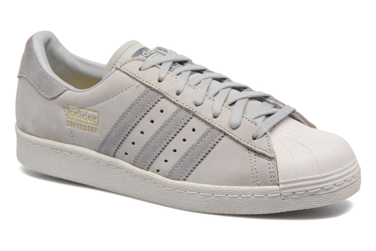 Baskets Adidas Originals Superstar 80S Gris vue détail/paire