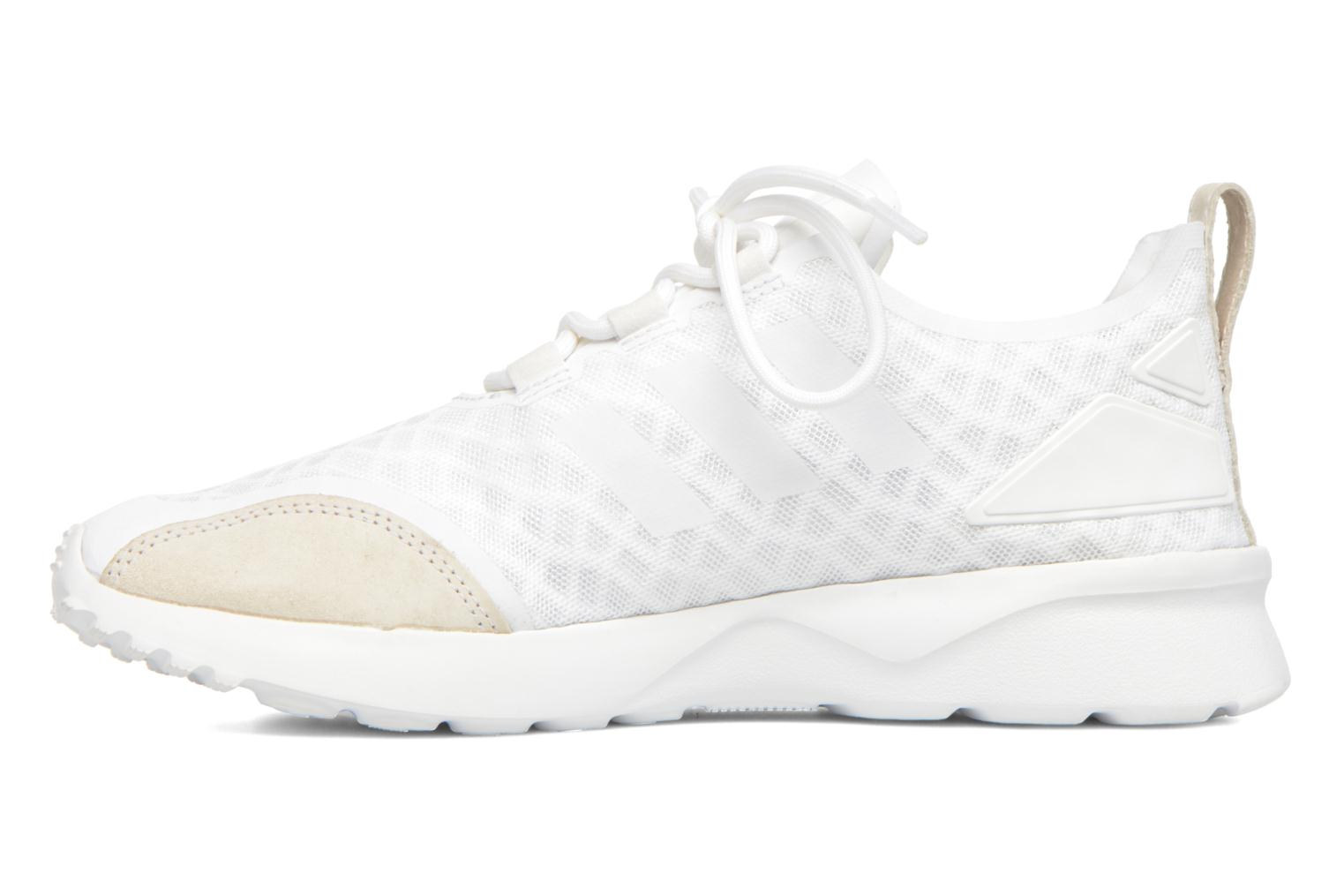 Baskets Adidas Originals Zx Flux Adv Verve W Blanc vue face