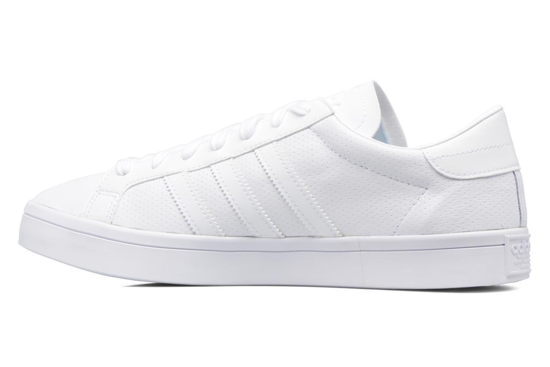 Sneaker Adidas Originals Court Vantage H weiß ansicht von vorne