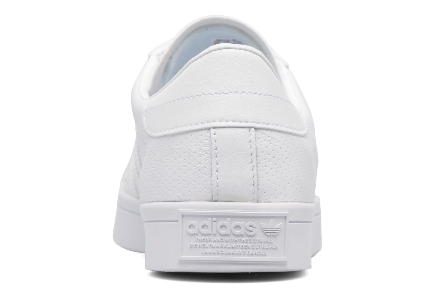 Trainers Adidas Originals Court Vantage H White view from the right