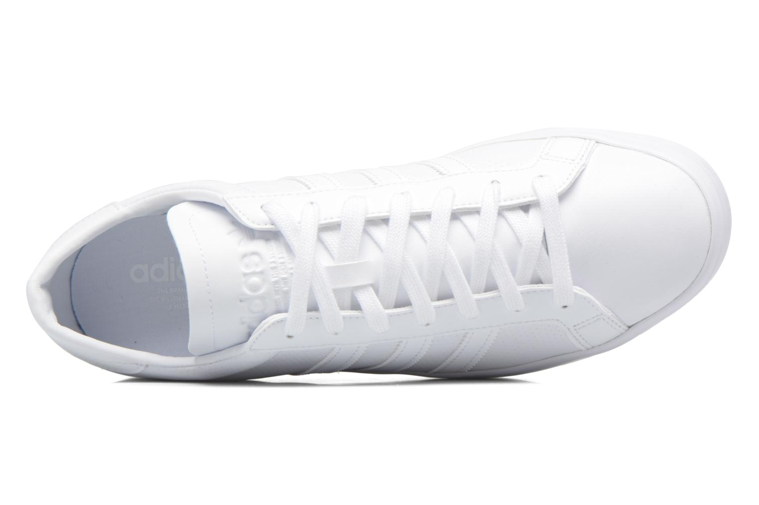 Trainers Adidas Originals Court Vantage H White view from the left