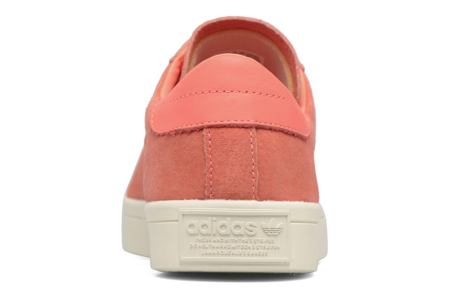 Trainers Adidas Originals Court Vantage H Orange view from the right