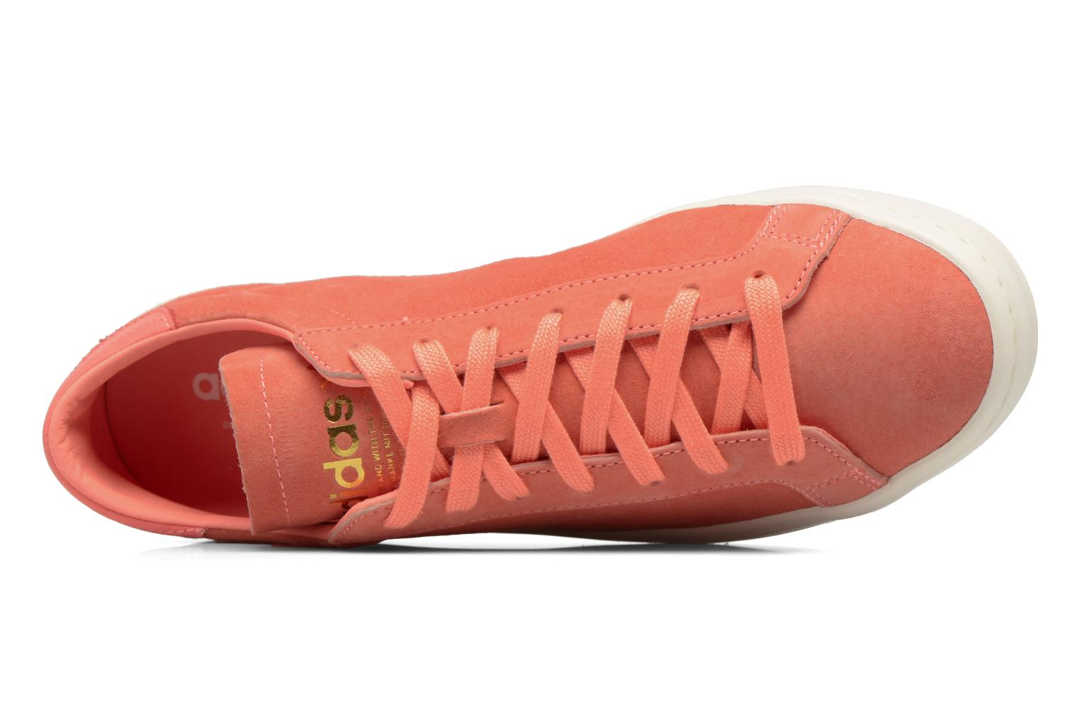 Trainers Adidas Originals Court Vantage H Orange view from the left