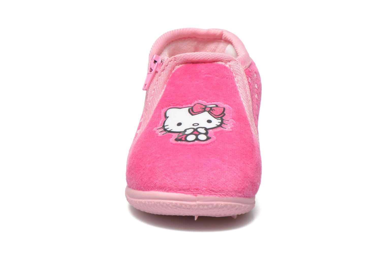 Pantuflas Hello Kitty Hk Reste Rosa vista del modelo