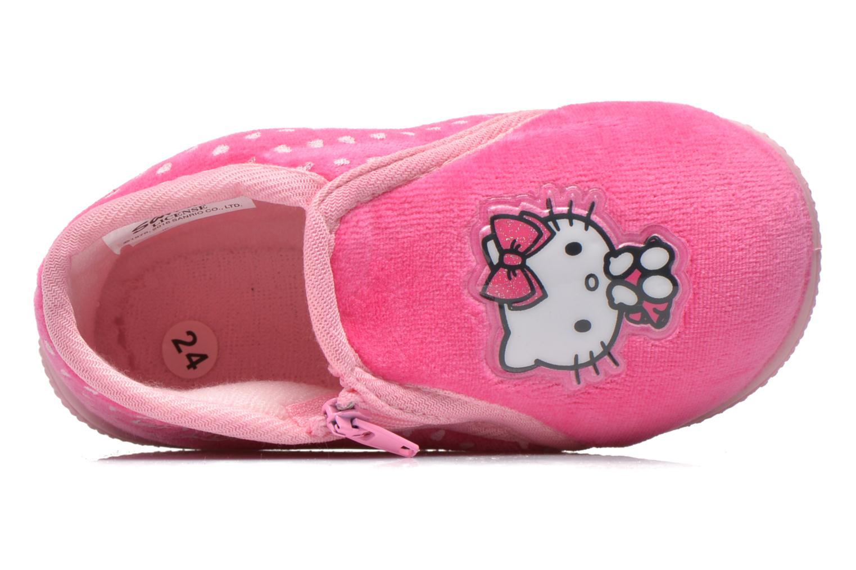 Pantuflas Hello Kitty Hk Reste Rosa vista lateral izquierda