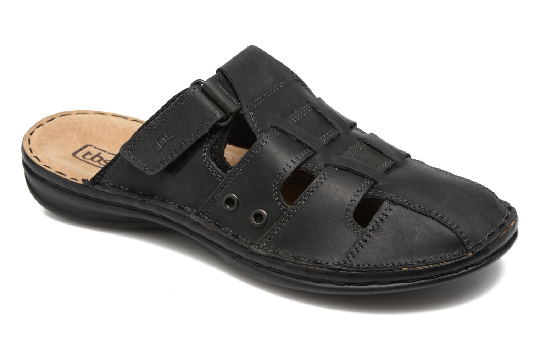 Sandales et nu-pieds TBS Easy Walk Bassoa Noir vue détail/paire