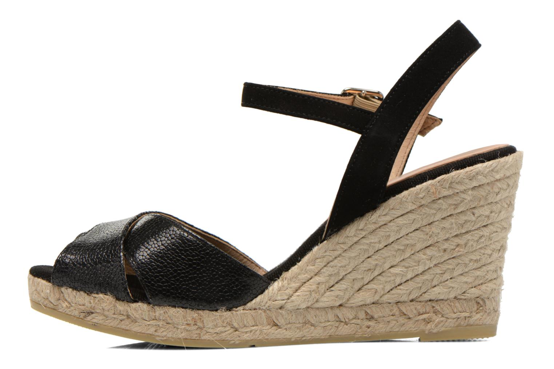Sandalen Kanna Camoa schwarz ansicht von vorne