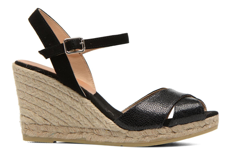 Sandales et nu-pieds Kanna Camoa Noir vue derrière