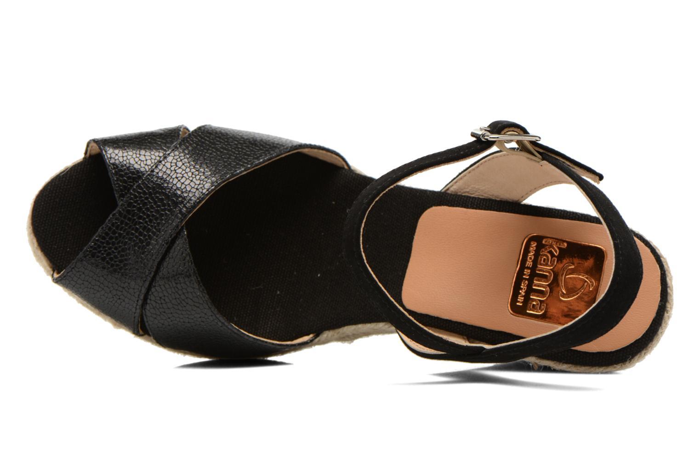 Sandales et nu-pieds Kanna Camoa Noir vue gauche