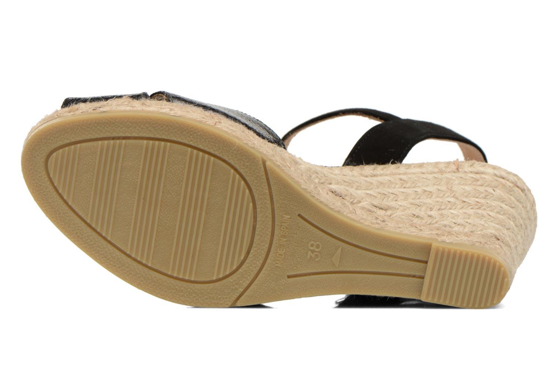 Sandales et nu-pieds Kanna Camoa Noir vue haut