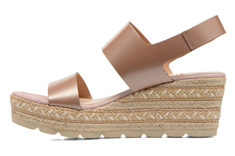 Sandales et nu-pieds Kanna Félicité Beige vue face