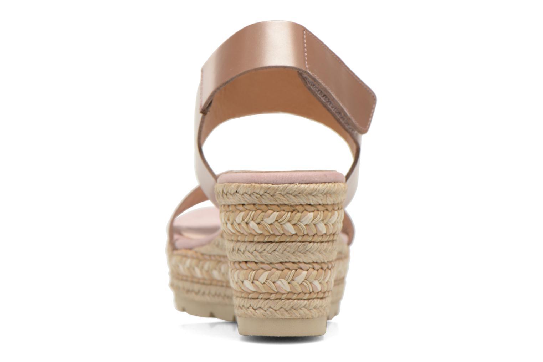 Sandales et nu-pieds Kanna Félicité Beige vue droite