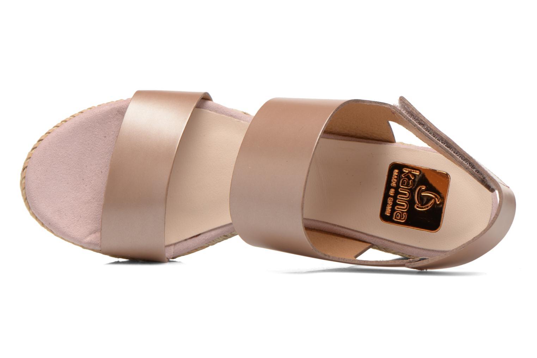 Sandales et nu-pieds Kanna Félicité Beige vue gauche