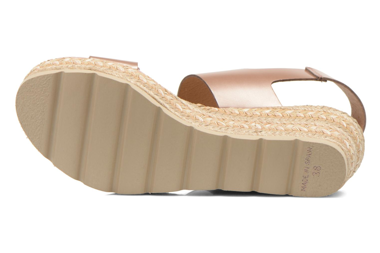 Sandales et nu-pieds Kanna Félicité Beige vue haut