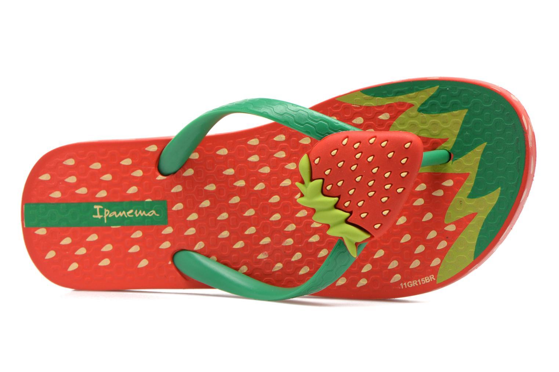 Tongs Ipanema Tutti Frutti Kids Rouge vue gauche