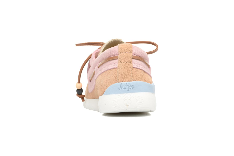 Chaussures à lacets Dolfie Landom Rose vue droite
