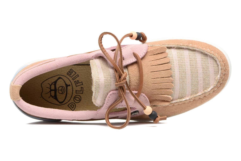 Chaussures à lacets Dolfie Landom Rose vue gauche