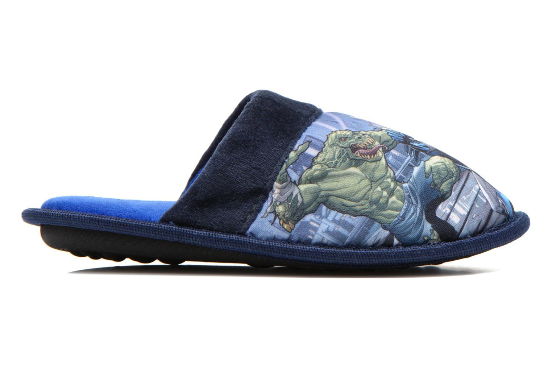 Chaussons Batman Bat Bamiyan Bleu vue derrière