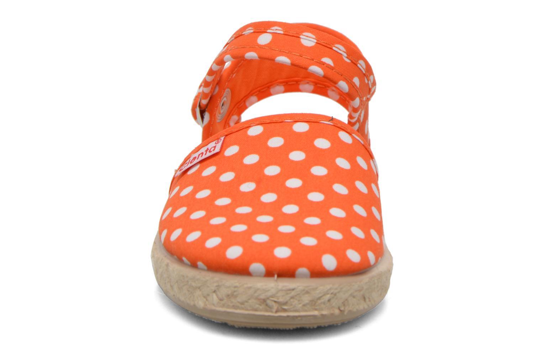 Sandales et nu-pieds Cienta Margot Orange vue portées chaussures