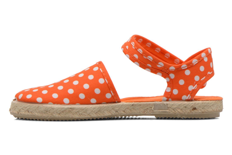 Sandales et nu-pieds Cienta Margot Orange vue face