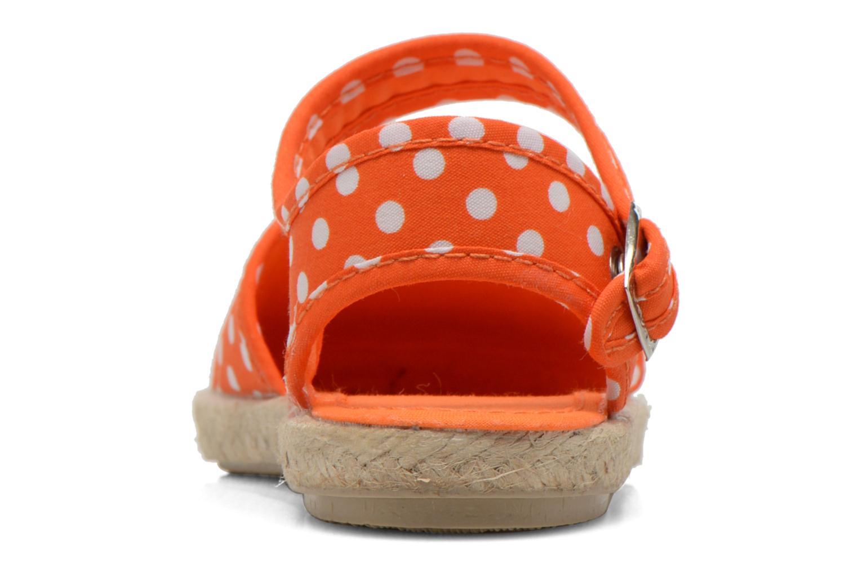 Sandales et nu-pieds Cienta Margot Orange vue droite