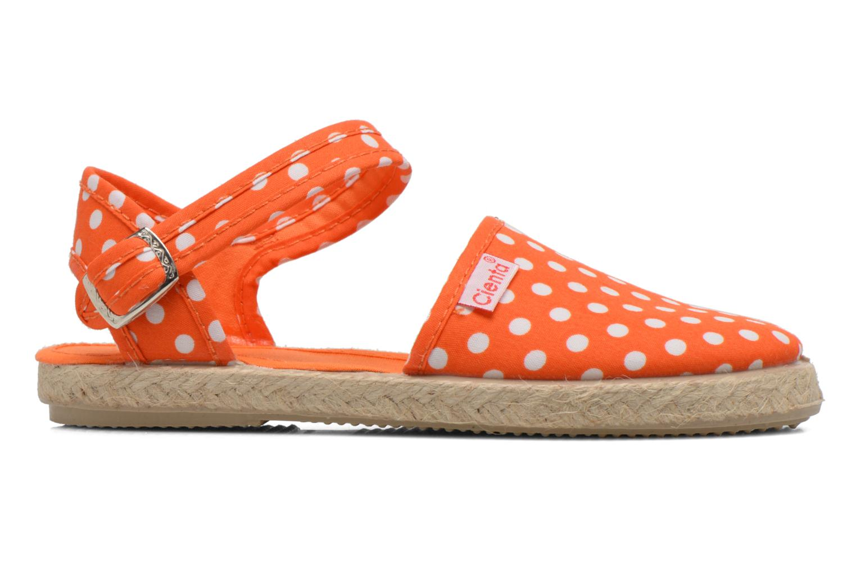 Sandales et nu-pieds Cienta Margot Orange vue derrière