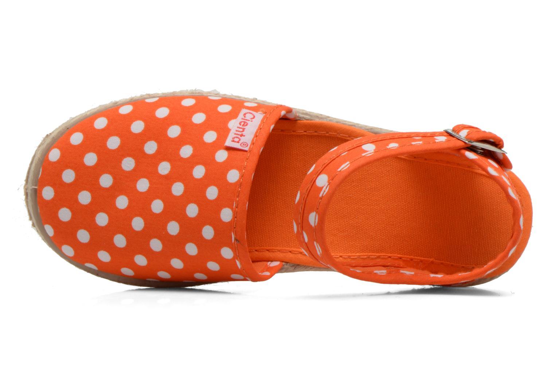 Sandales et nu-pieds Cienta Margot Orange vue gauche