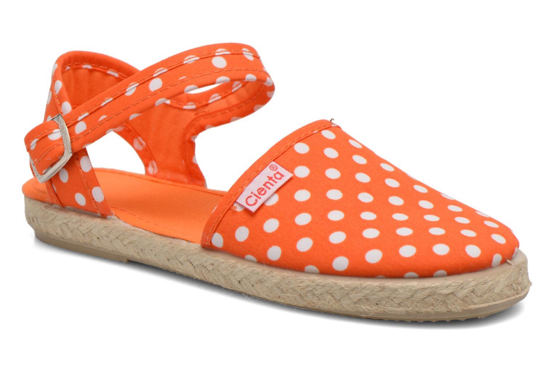 Sandales et nu-pieds Cienta Margot Orange vue détail/paire