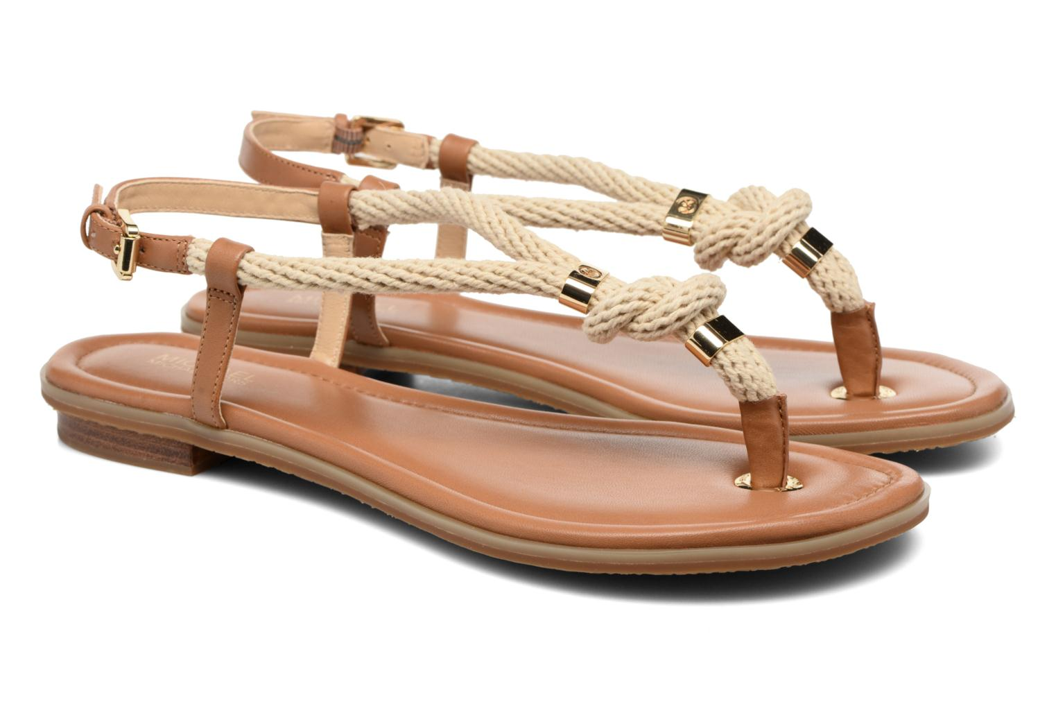 Sandalias Michael Michael Kors Holly Sandal Marrón vista 3/4