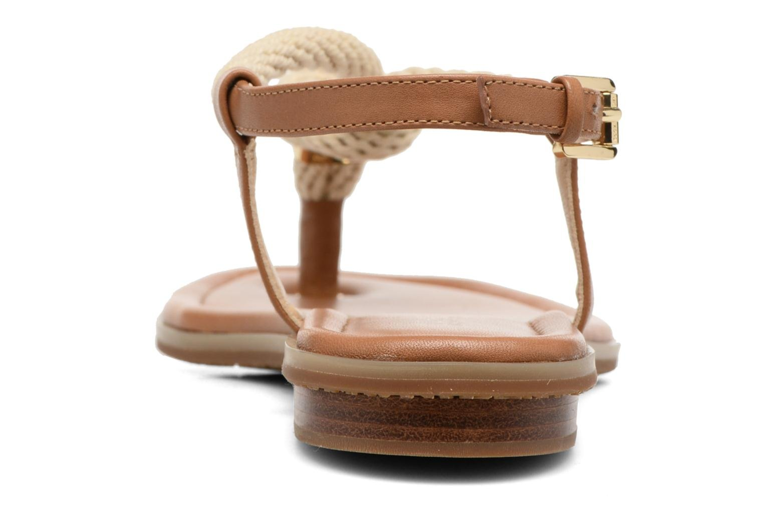 Sandalias Michael Michael Kors Holly Sandal Marrón vista lateral derecha