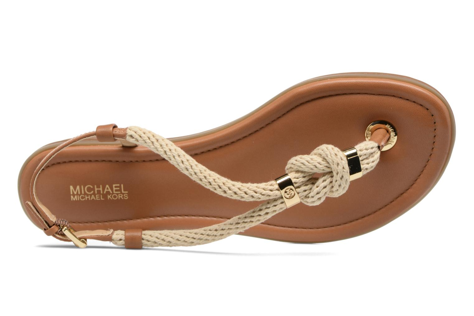 Sandalias Michael Michael Kors Holly Sandal Marrón vista lateral izquierda