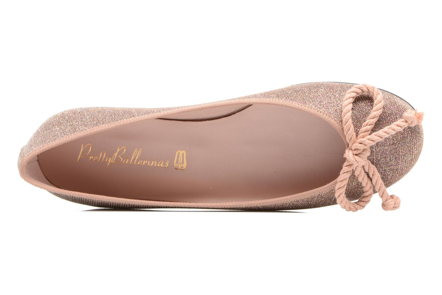 Ballet pumps Pretty Ballerinas Rosario Pink view from the left